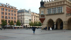 Krakow, Main Market Square. Poland, Krakow, Oct 2014. Main Market Square, the Cloth Hall and historic buildings Royalty Free Stock Images