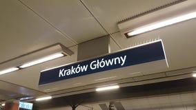 Krakow main railway station. Pointer stock video footage
