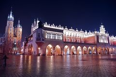 Krakow Main Square Stock Photo