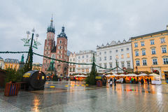 Krakow main square Stock Images