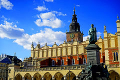 Krakow main square. Detail in Poland Royalty Free Stock Photography