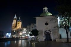 Krakow main square at night Stock Photo