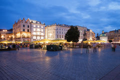 Krakow Main Square by Night Stock Images