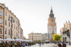 Krakow. The main square (Polish: Rynek Główny Royalty Free Stock Image