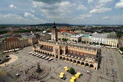 Krakow main square. Seen from the tower of St Mary's church Royalty Free Stock Photo
