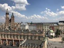 Krakow main square Stock Photo