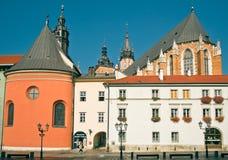 krakow maly targowy stary Poland rynek kwadrat Zdjęcia Royalty Free