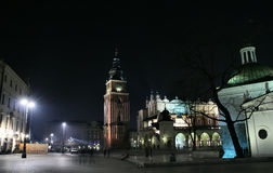 Krakow market square Stock Photography