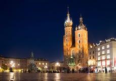 Krakow Market Square Stock Photography