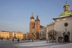 Krakow Market Square - Poland Stock Image