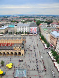 Krakow Market Square Stock Photo