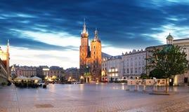 Krakow Market Square, Poland at night Royalty Free Stock Images