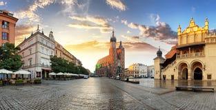 Krakow Market Square, Poland Stock Images