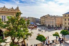 krakow miasteczko stary kwadratowy Obraz Royalty Free
