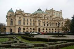 Krakow national teather. National teather - Julius-Slowacki - built from 1891, opened in 1893 in krakow, poland Royalty Free Stock Photo