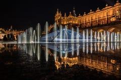 krakow noc Zdjęcie Stock