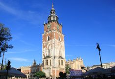 Krakow Old Medieval City Hall Tower stock photography