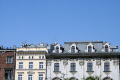 Krakow old town apartments. Roofs of Krakow buildings Stock Photography