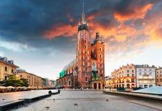 Krakow old town, Poland Royalty Free Stock Photos