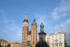 Krakow Old Town Skyline Stock Images