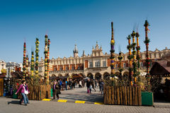Krakow Old Town Square - Easter Stock Image