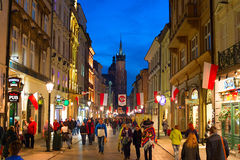 Krakow Old Town street Stock Images