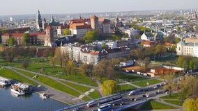 Krakow Panorama, Poland stock video footage