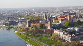 Krakow Panorama, Poland stock footage