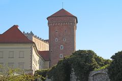 Senator`s Tower of Wawel Castle, Krakow. KRAKOW, POLAND - APRIL 29, 2012: This is the Senator`s Tower of Wawel Castle Royalty Free Stock Images