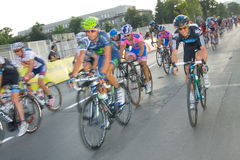 Krakow, POLAND - august 6: Cyclists at stage 7 of Tour de Pologne bicycle race on August 6, 2011 in Krakow, Poland. Stock Photos