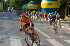 Krakow, POLAND - august 6: Cyclists at stage 7 of Tour de Pologne bicycle race on August 6, 2011 in Krakow, Poland. Stock Photo