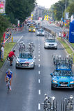 Krakow, POLAND - august 6: Cyclists at stage 7 of Tour de Pologne bicycle race on August 6, 2011 in Krakow, Poland. Stock Image