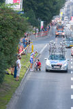 Krakow, POLAND - august 6: Cyclists at stage 7 of Tour de Pologne bicycle race on August 6, 2011 in Krakow, Poland. Stock Photography