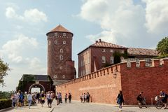Architectural complex of Wawel in Krakow Stock Photography