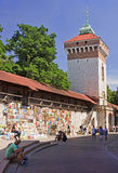 KRAKOW, POLAND - AUGUST 1, 2015: Saint Florian s Gate on 1 Augus Stock Image
