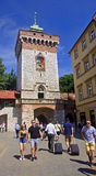 KRAKOW, POLAND - AUGUST 1, 2015: Saint Florian s Gate on 1 Augus Stock Photos
