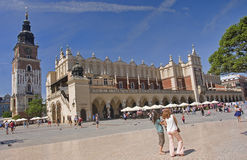 KRAKOW, POLAND - AUGUST 1, 2015: Sukiennice on 1 August 2015 in Royalty Free Stock Images