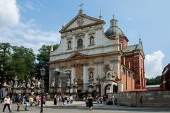 Church of Saints Peter and Paul in Krakow Royalty Free Stock Photos