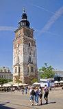 KRAKOW, POLAND - AUGUST 1, 2015: Town Hall Tower on 1 August 201 Royalty Free Stock Images