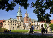 KRAKOW, POLAND - AUGUST 1, 2015: Wawel Cathedral on 1 August 201 Royalty Free Stock Photo