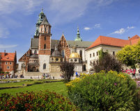 KRAKOW, POLAND - AUGUST 1, 2015: Wawel Cathedral on 1 August 201 Royalty Free Stock Image