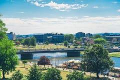 Krakow, Poland, beautiful landscape on the river stock photo