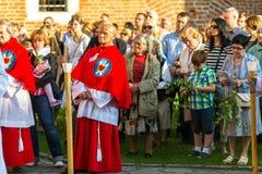 KRAKOW, POLAND -During the celebration the Feast of Corpus Christi Royalty Free Stock Photos