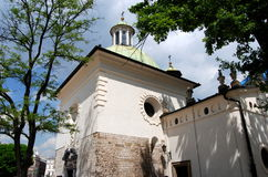 Krakow, Poland: Church of St. Wojciech Royalty Free Stock Images