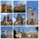 Krakow poland collage Royalty Free Stock Photography