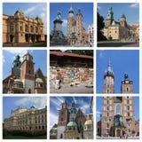 Krakow poland collage Royalty Free Stock Image