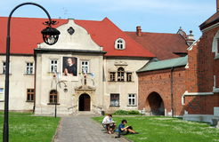 Krakow, Poland: Corpus Christi Church Courtyard Stock Photography
