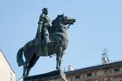 KRAKOW POLAND/EUROPE - SEPTEMBER 19: Grunwald staty i Krakow Royaltyfri Fotografi