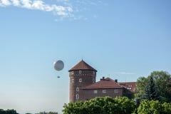 KRAKOW, POLAND/EUROPE - SEPTEMBER 19 : Hot air balloon near Wawe Stock Images