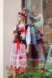KRAKOW, POLAND/EUROPE - SEPTEMBER 19 : Mannequin in national cos Stock Images